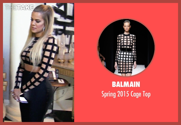 Balmain black top from Keeping Up With The Kardashians seen with Khloe Kardashian