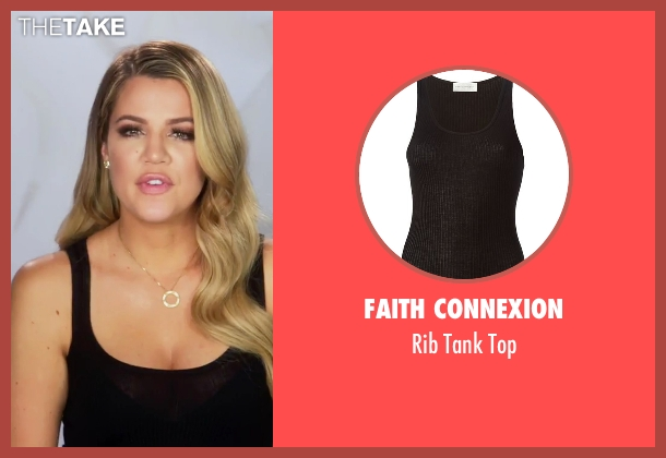 Faith Connexion black top from Keeping Up With The Kardashians seen with Khloe Kardashian