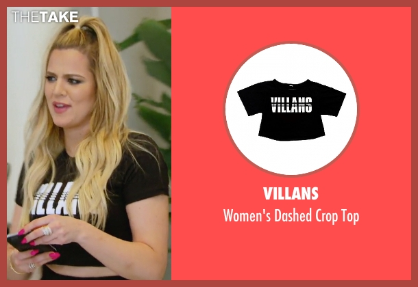 Villans black top from Keeping Up With The Kardashians seen with Khloe Kardashian