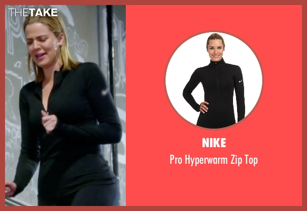 Nike black top from Keeping Up With The Kardashians seen with Khloe Kardashian