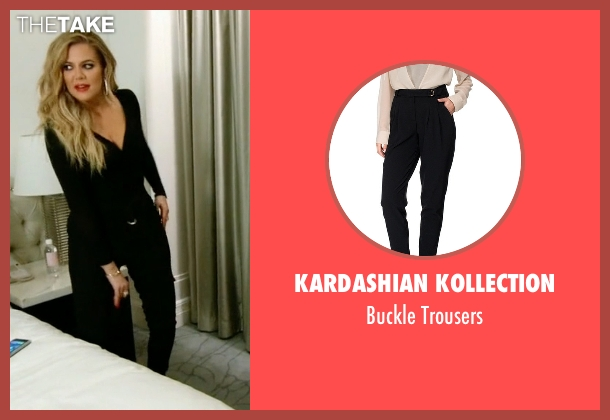 Kardashian Kollection black trousers from Keeping Up With The Kardashians seen with Khloe Kardashian