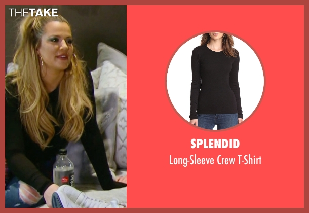 Splendid black t-shirt from Keeping Up With The Kardashians seen with Khloe Kardashian