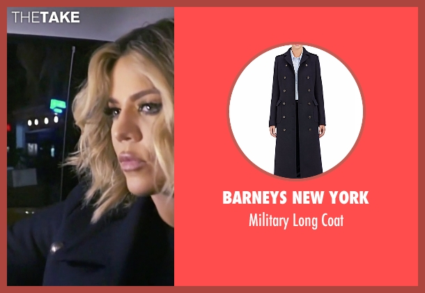 Barneys New York blue coat from Keeping Up With The Kardashians seen with Khloe Kardashian