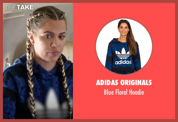 Adidas Originals blue hoodie from Keeping Up With The Kardashians seen with Khloe Kardashian
