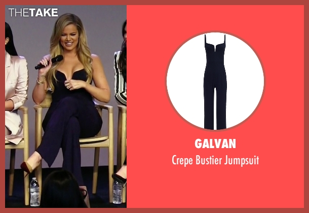Galvan blue jumpsuit from Keeping Up With The Kardashians seen with Khloe Kardashian