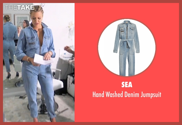 Sea blue jumpsuit from Keeping Up With The Kardashians seen with Khloe Kardashian