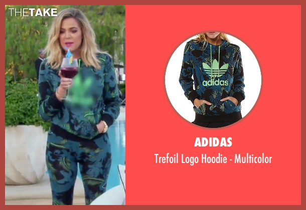 Adidas blue multicolor from Keeping Up With The Kardashians seen with Khloe Kardashian