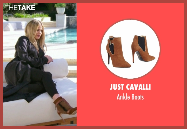 Just Cavalli brown boots from Keeping Up With The Kardashians seen with Khloe Kardashian
