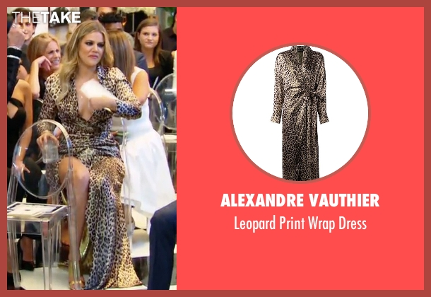 Alexandre Vauthier brown dress from Keeping Up With The Kardashians seen with Khloe Kardashian
