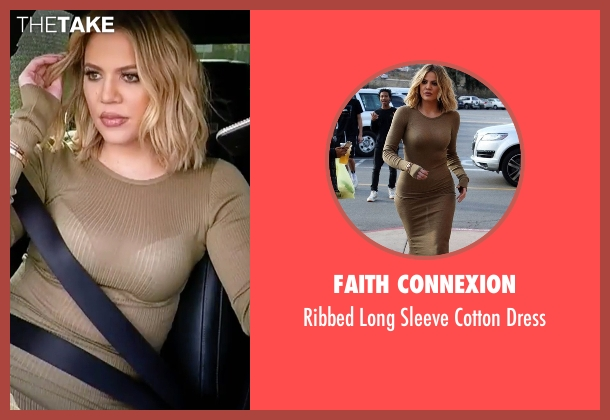 Faith Connexion brown dress from Keeping Up With The Kardashians seen with Khloe Kardashian