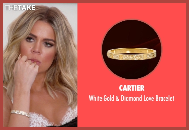 Cartier gold bracelet from Keeping Up With The Kardashians seen with Khloe Kardashian