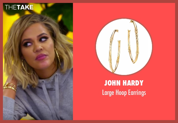 John Hardy gold earrings from Keeping Up With The Kardashians seen with Khloe Kardashian