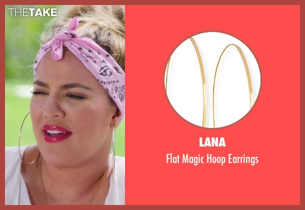 Lana gold earrings from Keeping Up With The Kardashians seen with Khloe Kardashian