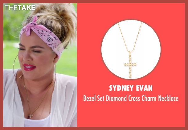 Sydney Evan gold necklace from Keeping Up With The Kardashians seen with Khloe Kardashian