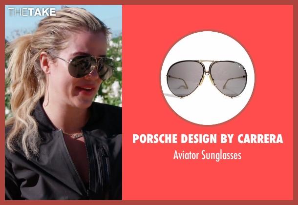 Kardashian Porsche Sunglasses  khloe kardashian s gold porsche design by carrera aviator