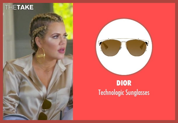 Dior gold sunglasses from Keeping Up With The Kardashians seen with Khloe Kardashian