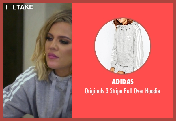 Adidas gray hoodie from Keeping Up With The Kardashians seen with Khloe Kardashian