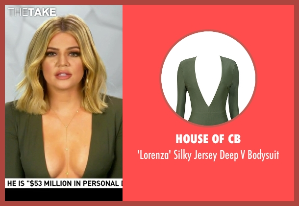 House of CB green bodysuit from Keeping Up With The Kardashians seen with Khloe Kardashian