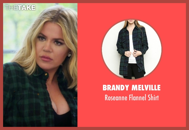 Brandy Melville green shirt from Keeping Up With The Kardashians seen with Khloe Kardashian