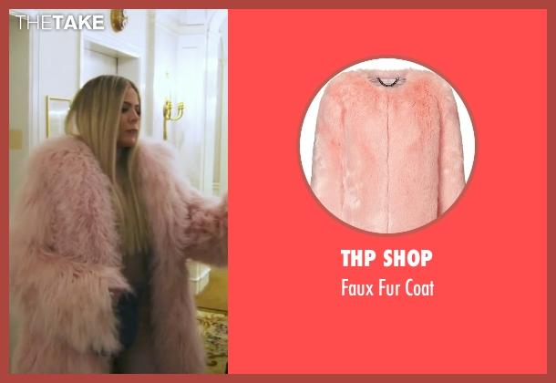 THP Shop pink coat from Keeping Up With The Kardashians seen with Khloe Kardashian