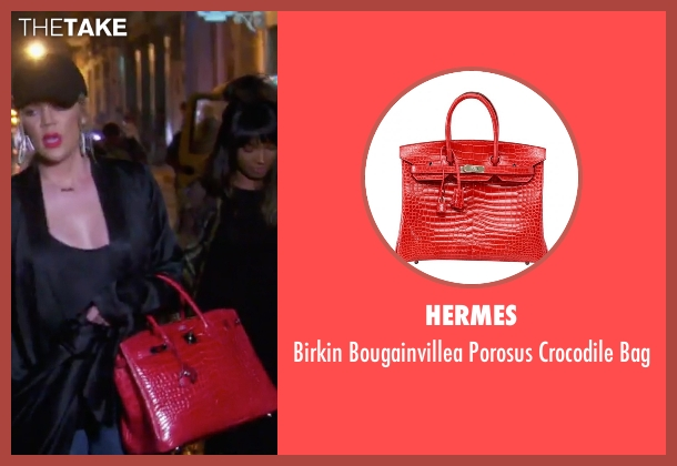 Hermes red bag from Keeping Up With The Kardashians seen with Khloe Kardashian