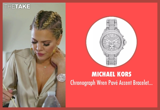 Michael Kors silver watch from Keeping Up With The Kardashians seen with Khloe Kardashian