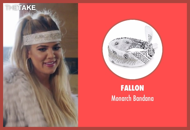 Fallon white bandana from Keeping Up With The Kardashians seen with Khloe Kardashian