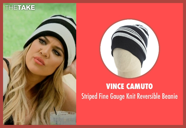 Vince Camuto white beanie from Keeping Up With The Kardashians seen with Khloe Kardashian