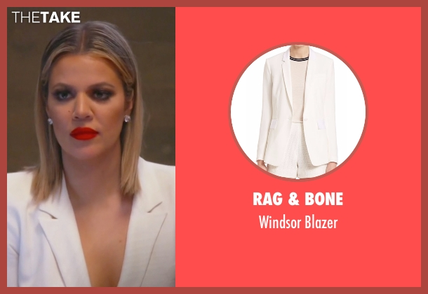 Rag & Bone white blazer from Keeping Up With The Kardashians seen with Khloe Kardashian