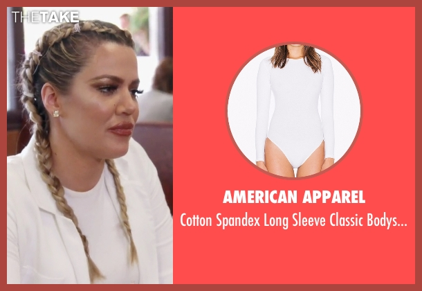 American Apparel white bodysuit from Keeping Up With The Kardashians seen with Khloe Kardashian