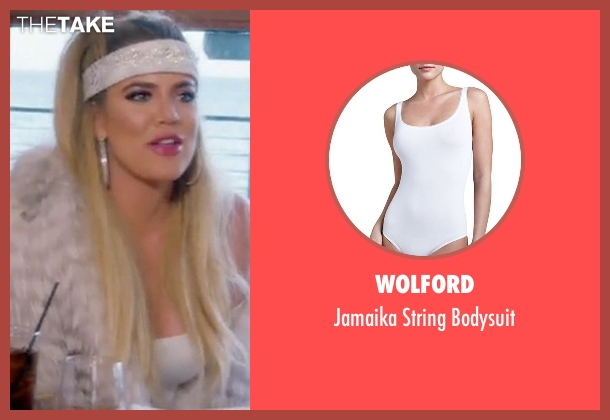 Wolford white bodysuit from Keeping Up With The Kardashians seen with Khloe Kardashian