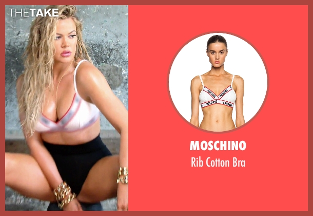 Moschino white bra from Keeping Up With The Kardashians seen with Khloe Kardashian