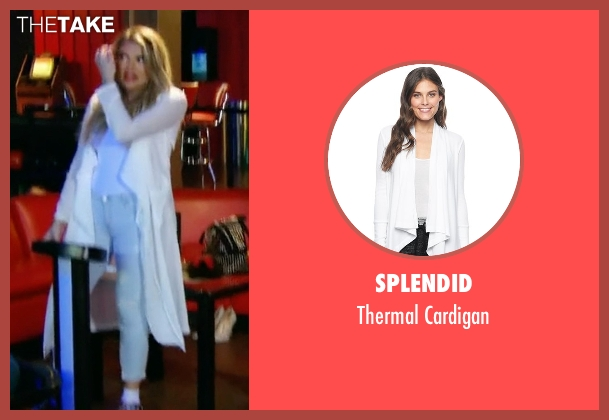 Splendid white cardigan from Keeping Up With The Kardashians seen with Khloe Kardashian