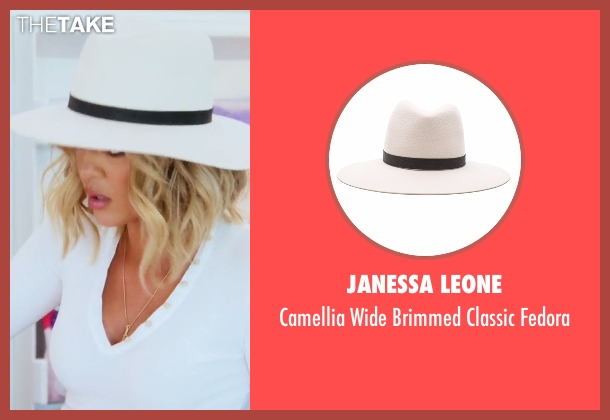 Janessa Leone white fedora from Keeping Up With The Kardashians seen with Khloe Kardashian