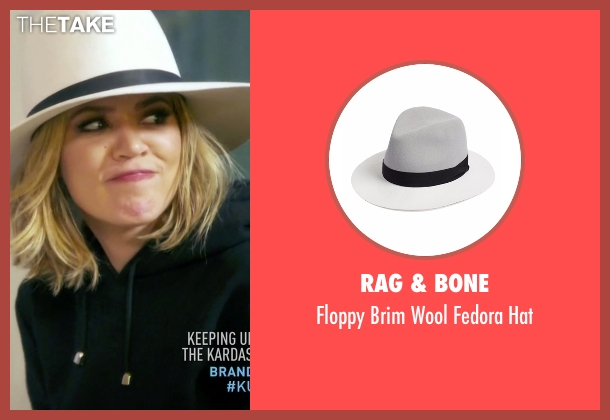 Rag & Bone white hat from Keeping Up With The Kardashians seen with Khloe Kardashian
