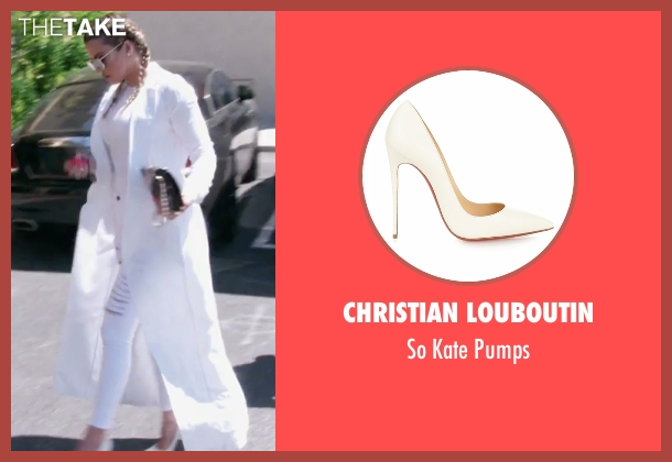 Christian Louboutin white pumps from Keeping Up With The Kardashians seen with Khloe Kardashian