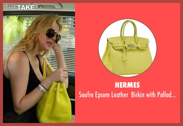 Hermes yellow bag from Keeping Up With The Kardashians seen with Khloe Kardashian