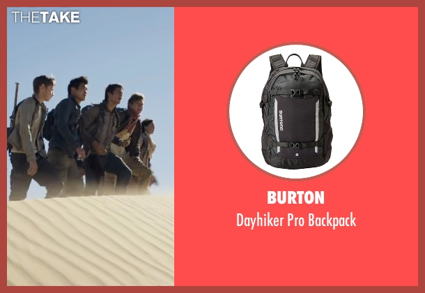 Burton black backpack from Maze Runner: The Scorch Trials seen with Ki Hong Lee (Minho)