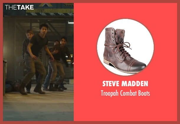 Steve Madden brown boots from Maze Runner: The Scorch Trials seen with Ki Hong Lee (Minho)