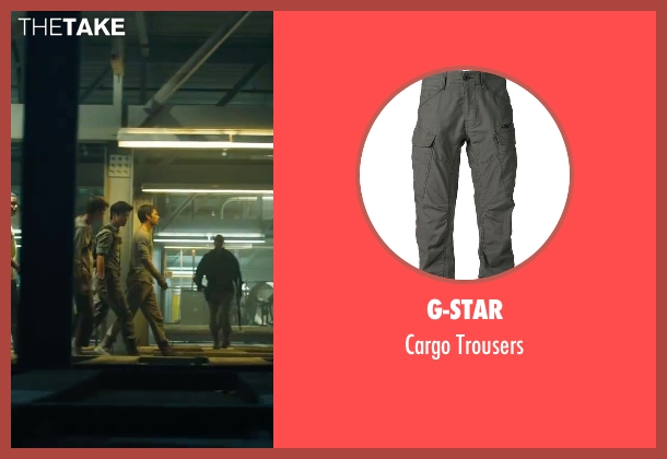 G-Star gray trousers from Maze Runner: The Scorch Trials seen with Ki Hong Lee (Minho)