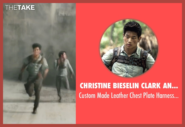 Christine Bieselin Clark and Simonetta Mariano (Costume Designers) harness from Maze Runner: The Scorch Trials seen with Ki Hong Lee (Minho)