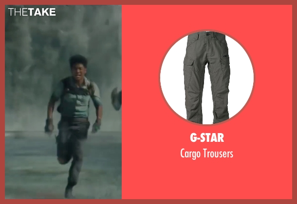 G-Star gray trousers from The Maze Runner seen with Ki Hong Lee (Minho)