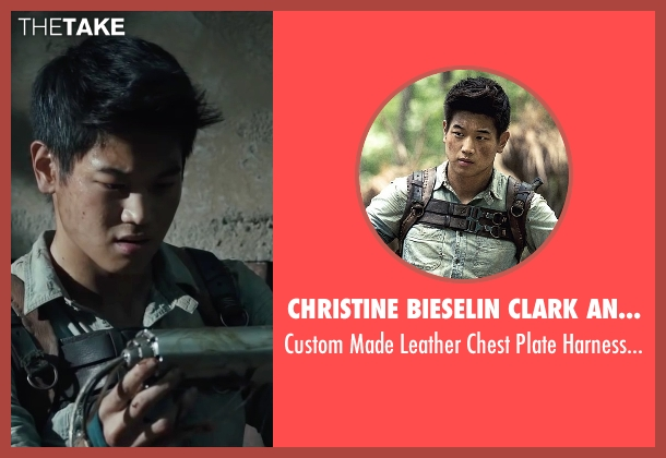 Christine Bieselin Clark and Simonetta Mariano (Costume Designers) harness from The Maze Runner seen with Ki Hong Lee (Minho)