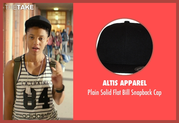 Altis Apparel black cap from Dope seen with Kiersey Clemons (Diggy)
