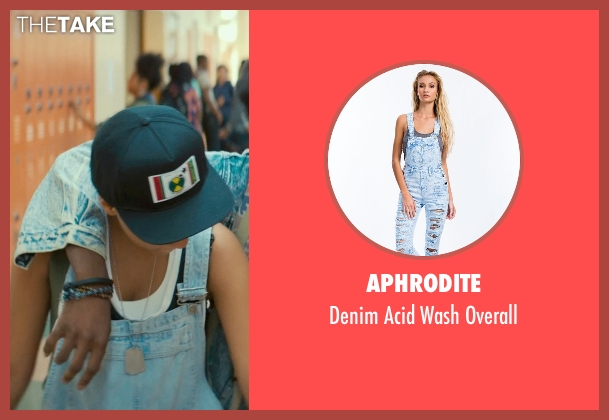 Aphrodite blue overall from Dope seen with Kiersey Clemons (Diggy)