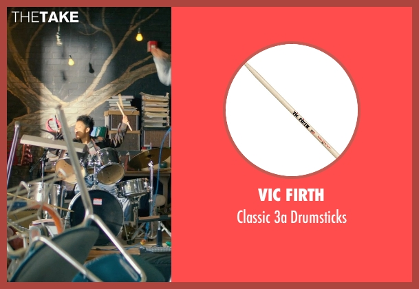 Vic Firth drumsticks from Dope seen with Kiersey Clemons (Diggy)