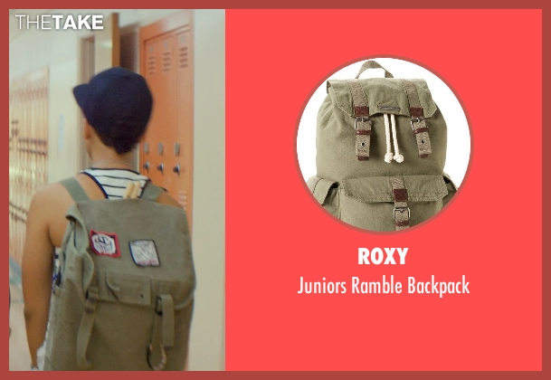Roxy green backpack from Dope seen with Kiersey Clemons (Diggy)