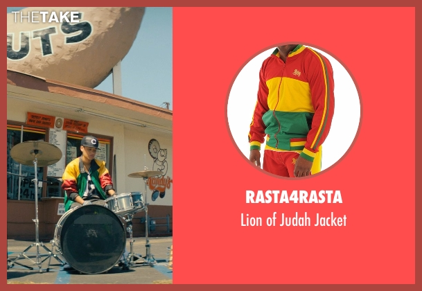 Rasta4Rasta jacket from Dope seen with Kiersey Clemons (Diggy)