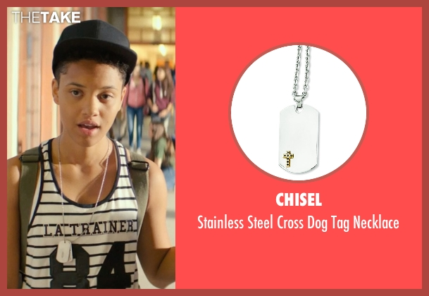 Chisel silver necklace from Dope seen with Kiersey Clemons (Diggy)