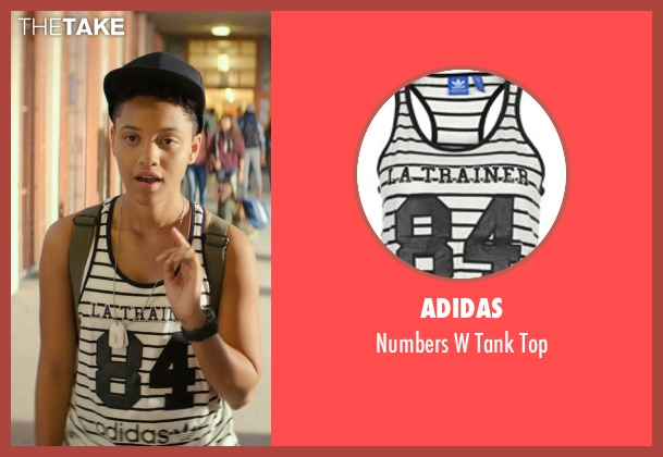 Adidas white top from Dope seen with Kiersey Clemons (Diggy)